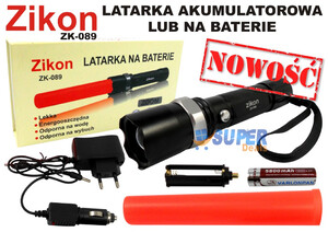 Zikon latarka LED ZOOM ZK-089